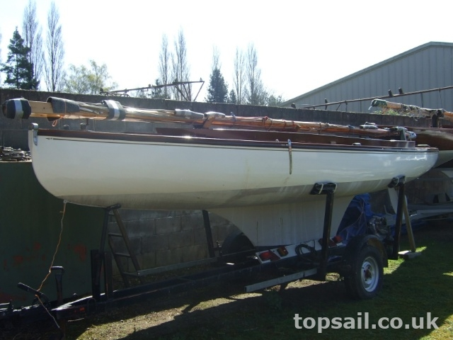Yare & Bure One Design (YBOD,  White Boat) & Trailer