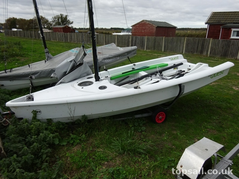 RS Quest Sailing Dinghy & Launching Trolley